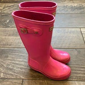 Hunter Rain Boots Youth Pink Sz 1